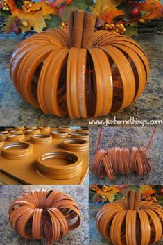 Thanksgiving decoration, DIY Thanksgiving decoration table, Thanksgiving decoration ideas, Pumpkin mason jar lids #Thanksgiving #thanksgivingdecor #MasonJar