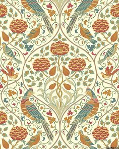 'Orkney' collection by Morris & Co. for Free Spirit #williammorris William Morris, Free Spirit, Art Nouveau, Retro Vintage, Fabric, Collection, Home Decor, Tejido, Tela