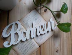 Mot décoratif à poser personnalisable - mot en bois à poser - lettres décoratives en bois marque table : Autres pièces pour créations par bois-chiffons