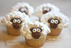 Sheep Cupcakes - Repeat Crafter Me