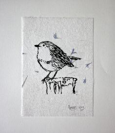 Imprimées sur du papier fait main coton belle basé, qui a été infusé avec des fibres de soie, pétales, feuilles de fougères et herbes de plantes