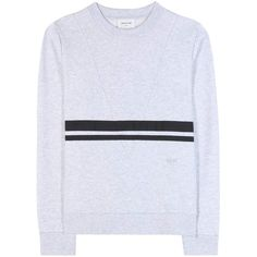 Wood Wood Maxine Cotton Sweatshirt (515 SAR) ❤ liked on Polyvore featuring tops, hoodies, sweatshirts, grey, grey top, gray sweatshirt, cotton sweatshirts, gray top and grey sweatshirt
