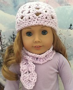 This little scarf was designed to match a cute crocheted hat pattern that can be found here: