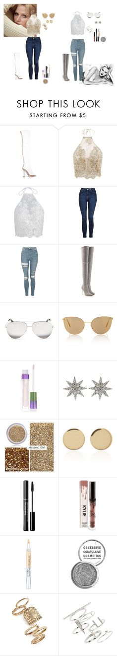 """""""Sin título #155"""" by therawtruth on Polyvore featuring Topshop, Balmain, Victoria Beckham, Mykita, Bee Goddess, Material Girl, Magdalena Frackowiak y Obsessive Compulsive Cosmetics"""