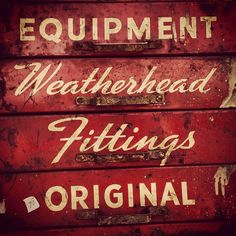 There's nothing like good weathered type.