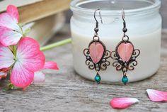 Copper Earrings by twistedjewelry.deviantart.com on @deviantART