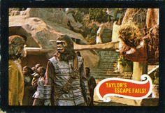 Planet of the Apes bubblegum card Taylor's Escape Fails! Pierre Boulle, Plant Of The Apes, Post Apocalypse, Planets, Sci Fi, Originals, Fails, Mad, Movies