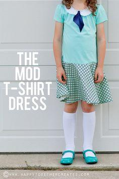 The Mod T-shirt Dress Tutorial by ohsohappytogether, via Flickr