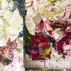 A weekend to reflect- #bobbieburgers #botanical #artist #floral #peonies #painter #canadianart #contemporaryart