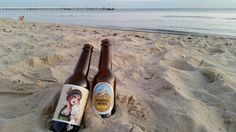 Beautiful evening at Port Melbourne beach... #beach #spring #beer #dontlitter