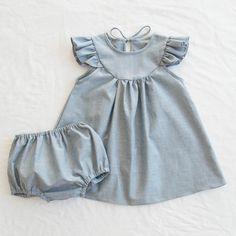 Fondly Lisa Dress + Bloomer Set - Chambray