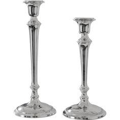 Ljusstakar i blank nickel för en klassisk look. Finns att köpa i webbutiken Longcoast  Living 2a49273b9c0f2