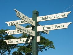 Nantucket Sign Post