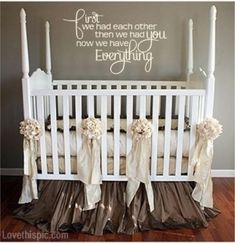 New Baby Quote quote home sweet baby decorate nursery crib neutral baby rooms baby room ideas