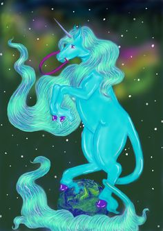 Space-unicorn by sachaXD
