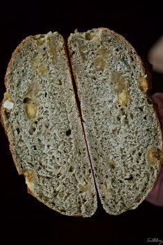 Pain au levain, thé matcha et Calissons Sin Gluten, Matcha, Orange Confit, Bread, Food, Spelt Flour, Breads, Sourdough Bread, Marzipan