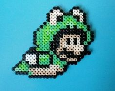 Hama/perler beads- Mario frog