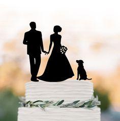 Wedding Cake topper silhouette family Cake by TopperDesigner