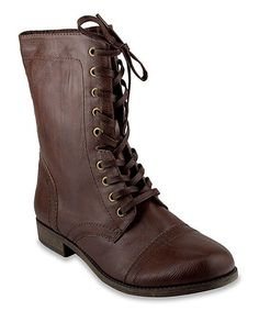 Look what I found on #zulily! Brown Victorian Boot #zulilyfinds