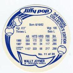 1988 Msa Jiffy Pop Discs 7 Vince Coleman Back 1988 Baseball Cards