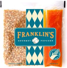 Franklin's Gourmet Movie Theater Popcorn. Organic Popping Corn, 100% Coconut Oil, & Seasoning Salt. Pre-Measured Portion Packs for 12 oz Popper (Pack of 24).