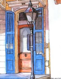 House Blue Shutters