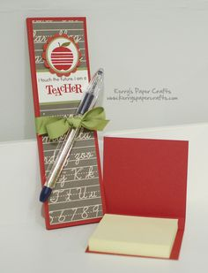 Teacher Gift: Skinny Notepad & Post-It Holder