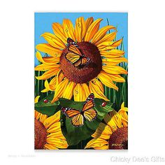 Evergreen Garden Flag SUNFLOWER GOLDEN WONDERS flower summer Autumn NEW