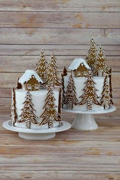 Gingerbread Forest House Christmas Cake from Blossom Tree Cake Co Harrogate North . - Gingerbread Forest House Christmas Cake from Blossom Tree Cake Co Harrogate North … - Christmas Cake Decorations, Christmas Sweets, Holiday Cakes, Christmas Cooking, Noel Christmas, Christmas Goodies, Christmas Cakes, Tree Decorations, Xmas Cakes