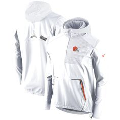 Cleveland Browns Nike Champ Drive Vapor Speed Fly Rush Flash Half-Zip Pullover Jacket - White - $299.99
