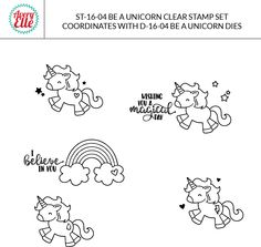 Avery Elle  - Be A Unicorn Clear Stamps, $8.00 (http://www.averyelle.com/be-a-unicorn-clear-stamps/)