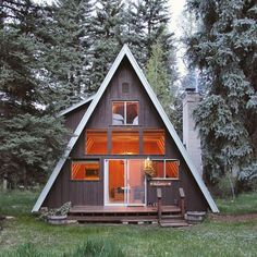 """papawolfsupplyco: """" Really nice A-frame via @thecabinchronicles…"""