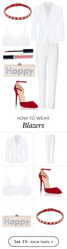 """Untitled #2442"" by fcharese on Polyvore featuring ESCADA, Edie Parker, MaxMara, Christian Louboutin, Valentino, Christian Dior and Anine Bing"