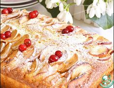 Рецепт: Пирог с яблоками Pie Cake, Food Shows, Hawaiian Pizza, Pepperoni, French Toast, Food And Drink, Cooking Recipes, Cookies, Baking