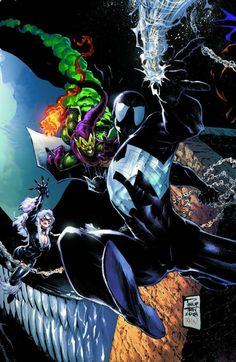 Spiderman Black Suit, Spiderman Art, Amazing Spiderman, Comic Art, Comic Books, Marvel Comics Art, How To Make Comics, Spider Verse, Batman