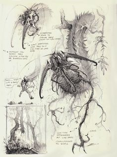 ArtStation - The Creatures of Bobby Rebholz Alien Creatures, Fantasy Creatures, Mythical Creatures, Monster Sketch, Monster Art, Creature Concept Art, Creature Design, Fantasy Kunst, Fantasy Art