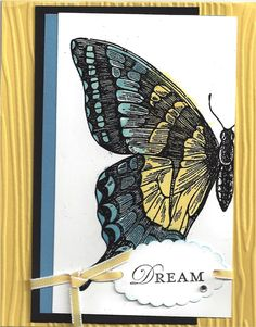 Gorgeous Stampin Up! Swallowtail card