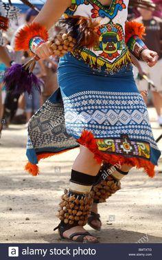 Aztec Dancer performing a traditional dance - Stock Image Aztec Costume, Dance Images, Aztec Art, Captain Hat, Stock Photos, Traditional, Costumes, Jaguar, Vectors