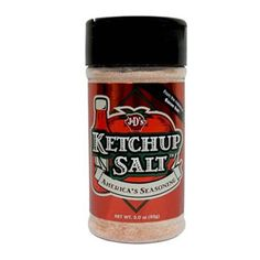 Ketchup Salt - you can make it by mixing ketchup with water so that it becomes quite liquid, then diluting as much salt in it you can, and following the fleur de sel recipe to dry it... or