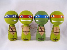 Hey, I found this really awesome Etsy listing at http://www.etsy.com/listing/125799589/kokeshi-heros-in-a-half-shell-inspired