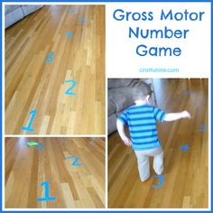 Gross Motor Number Game from Craftulate