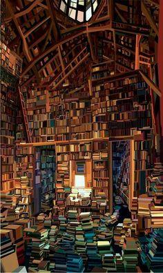 Quiero una biblioteca asi! ❤