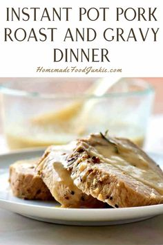 Pork loin roast is tender and juicy when made in your electric pressure cooker. This boneless pork loin roast also includes a flavorful gravy recipe for the roast and sides. It's all done in your instant pot in under an hour. Boneless Pork Loin Roast, Family Meals, Family Recipes, Pork Roast Recipes, Gravy, Instant Pot, Cooker, Sweet Treats, Electric