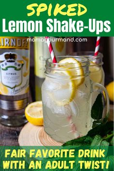 Spiked Lemon Shake-Up Cocktail is your classic vodka lemonade drink brought to the next level. It's still quick and easy to throw together, but has a fresher taste, just like those timeless lemon shake-ups enjoyed at fairs and festivals.
