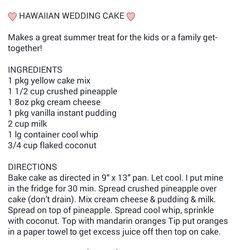 Easy Hawaiian Wedding Cake