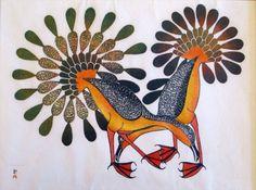 Kenojuak Ashevak, (Inuit) Bird