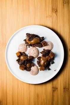 Dessert à l'assiette autour du Chocolat