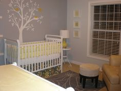 yellow and grey nursery @ Michaela, Aunt Gins said these were your colors!