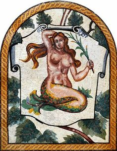 "42""x54"" Mermaid Art Tile Mosaic Wall, Floor or Pool Decor by Mozaico. $999.00. A beautiful decorative item showing a mermaid holding a branch of a plant surrounded by green leaves.   Mosaics have endless uses and infinite possibilities! They can be used indoors or outdoors, be part of your kitchen, decorate your bathroom and the bottom of your pools, cover walls and ceilings, or serve as frames for mirrors and paintings. Your mosaic comes on a mesh backing for imm..."