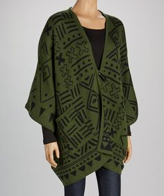 This Green Ryan Alpaca Cape by Dolce Vita is perfect! #zulilyfinds